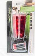 VINCA SPORT Фонарь задний VL 2L-А (5 диодов, 2 LED габарита, эффект лазерных лучей), инд.уп.