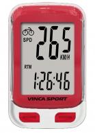 VINCA SPORT Велокомпьютер V-3500 red проводной, 12 функций, белый с красным, ин