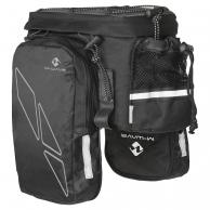 M-WAVE Сумка 5-122312 на багаж. с бок. карман.+отдел-е д/фляги с плеч. ремнем V=16л (20) черно-серая