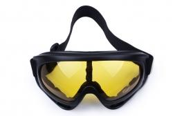 Маска горнолыжная (снегоход, сноуборд), линза желтая, Black Size M/L (2018)