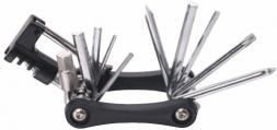 VINCA SPORT Набор инструментов 11 функций (отвертки, шестигр. 2/2.5/3/4/5/6/8мм, ключ Т25, выжимка