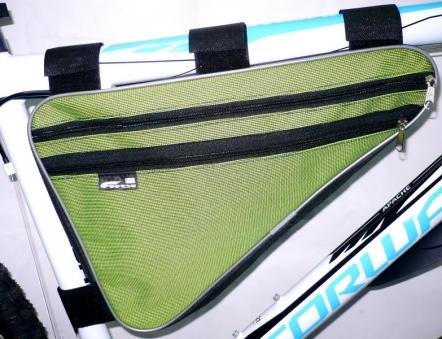 COURSE Велосумка подрамная большая дуэт,цвет зелёный вс022.040.1