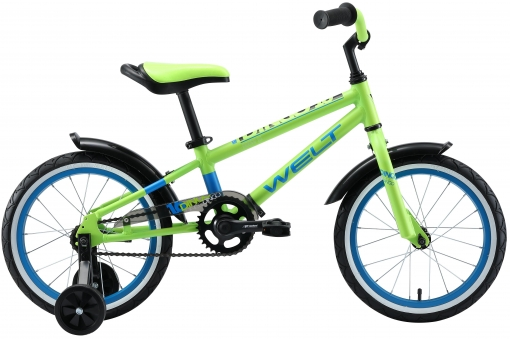 WELT Велосипед Dingo 16 2021 Acid green/blue (US:one size)