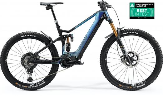 MERIDA Велосипед eOne-Sixty 10K Р:XL(50cm) GlossySparklingBlue/MattBlack (2021)
