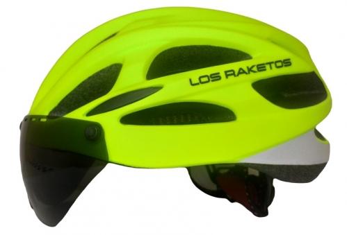 LOS RAKETOS Велосипедный шлем PULSE Fluo Yellow L-XL (58-62) арт 47443