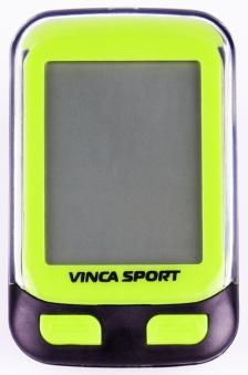 VINCA SPORT Велокомпьютер V-3500 лайм проводной, 12 функций, lime, инд.уп