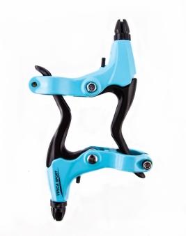 VINCA SPORT Тормозные ручки VB 51 light blue, материал - алюминий, синие, серебристые рычаги