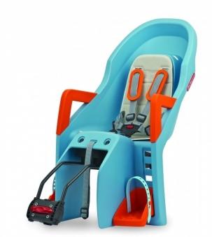 POLISPORT Сиденье детское GUPPY RS на раму, голубой/оранжевый 8637700007