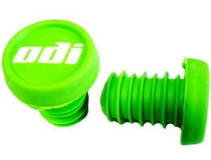Грипстопы-пробки, зеленые, пластиковые, лого ODI, пара. F72PRGN green