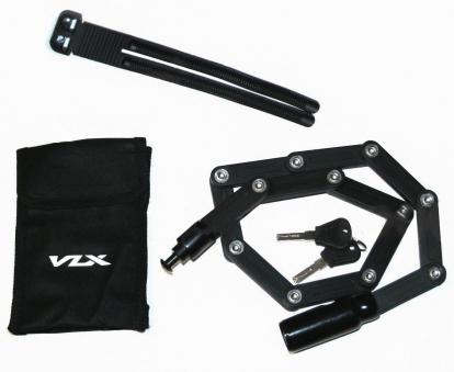 VLX Замок складной VLX-L32 с ключами 18x845мм, из закалённых стальных пластин, с чехлом.