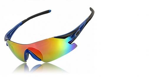 VINCA SPORT Очки VG 25 cо сменными серыми и голубыми лизами, черно-синяя оправа