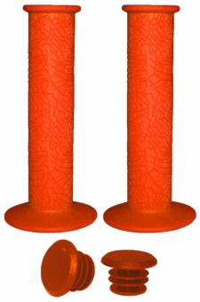 VINCA SPORT Грипсы H-G 60 light orangen резиновые, длина 120 мм, оранжевые, инд. упаковка