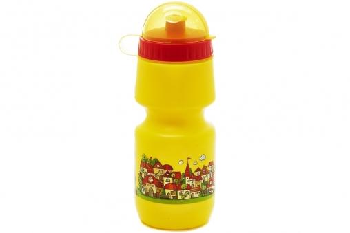 VINCA SPORT Фляга детская VSB 50 с защитой от пыли 500мл, жёлтая, рисунок - \