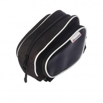 ACOOLA Велосумка на раму, с тремя отделениями, цвет чёрный