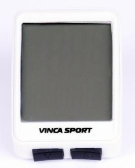 VINCA SPORT Компьютер V 1507 беспроводной, 12 функций, белый с черным, инд.уп. Vinca Sport
