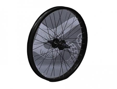 713BIKES Колесо заднее 20 диаметр, 36 спиц, под BMX, черное