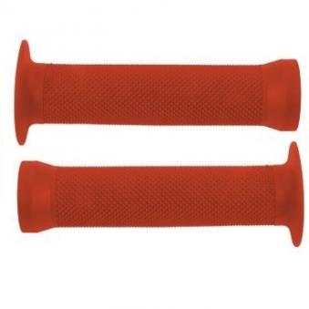 CLARK`S Ручки .С83 на руль 3-364 резин. BMX 135мм торц. защита+защита от проскальз. КРАСНЫЕ