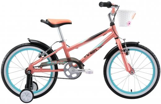 WELT Велосипед Pony 18 2021 Coral/aqua blue (US:one size)