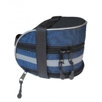 BACKSIDE Велосумка под седло средняя размеры:13х11х9 см цвет синий-черный (вс081.013.1.0)