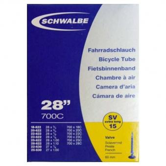 SCHWALBE Велокамера (10427363) SV15,ex.long 700x18C/25C (2018)