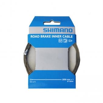 SHIMANO Трос тормоза Shimano, нерж., для шоссе, 1.6x2050мм, с концевиком троса (Y80098330)