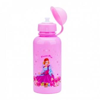 VINCA SPORT Фляга детская VSB 03 pink с защитой от пыли 350мл, розовая, рисунок - \