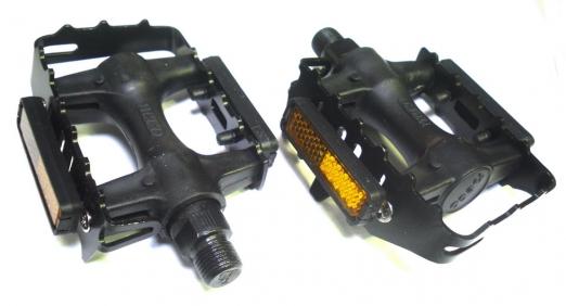 NECO Педали WP-931 Black инд.уп пластиковые с металической рамкой