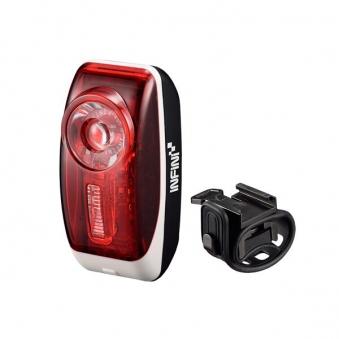 INFINI Фонарь красный 0,5 Вт диод с фокус-линзой, 3 режима, 2 батарейки LR03(AAA). 30гI-407R