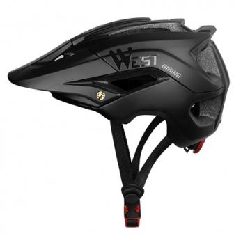 CRAZY Шлем West Biking, Black, 20отв L 56-62см, 362g