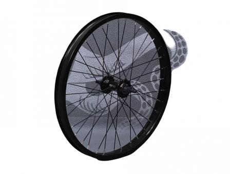 713BIKES Колесо переднее, 20 диаметр, 36 спиц, под BMX, черное