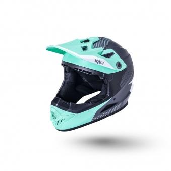 KALI Шлем Full Face DH/BMX Zoka мат/ бирюз/серый (52-53см)