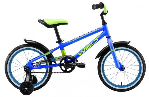 WELT Велосипед Dingo 16 2021 Blue/Acid Green (US:one size)