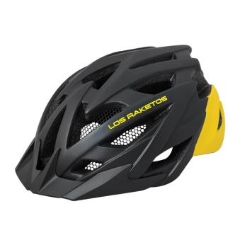 LOS RAKETOS Велосипедный шлем RAPID Matt Black Yellow S-M  (55-58) арт 47434