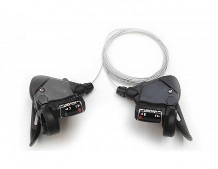 MICROSHIFT Шифтеры TS39-9 для Shimano 3х9 скор. Пара, 242г