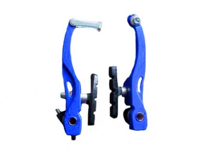 VINCA SPORT Тормоза с колодками (пара), VVB 15алюминиевые, 107мм, колодки 60мм,синий