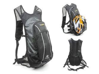AUTHOR Рюкзак спорт. CYCLONE GSB V=9л + черно-серый + желтый чехол от дождя (2016)