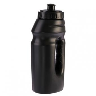 Бутылка для воды 550 мл, велосипедная, с ручкой, пластик HDPE, черная, 9.5х22 см