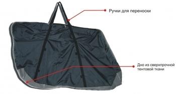 COURSE Чехол для велосипеда увеличенный,цвет чёрный/серый чв012.170