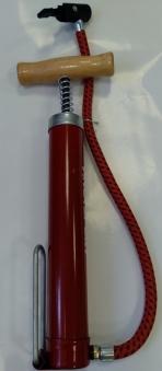 VINCA SPORT Насос, напольный мини, метал. корпус, шланг, размер 32*200мм, Т-ручка, красный, Китай PC