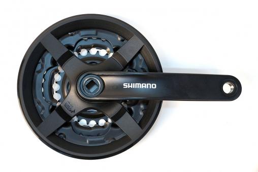 SHIMANO Система TY301, 175мм, Кв, 42/34/24, с защитой, черн, б/уп (AFCTY301E244XL)